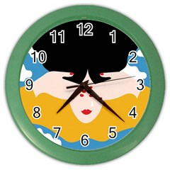 Close Your Eyes Color Wall Clocks by Jojostore