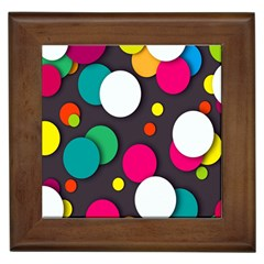 Color Balls Framed Tiles by Jojostore
