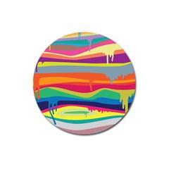 Colorfull Rainbow Magnet 3  (round) by Jojostore