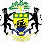Coat of Arms of Gabon Storage Stool 12   Back