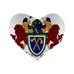 Coat Of Arms Of The Gambia Standard 16  Premium Flano Heart Shape Cushions by abbeyz71