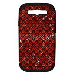 Scales2 Black Marble & Red Marble (r) Samsung Galaxy S Iii Hardshell Case (pc+silicone) by trendistuff