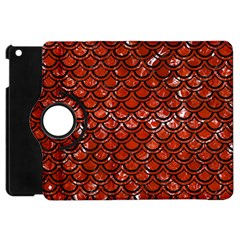 Scales2 Black Marble & Red Marble (r) Apple Ipad Mini Flip 360 Case by trendistuff