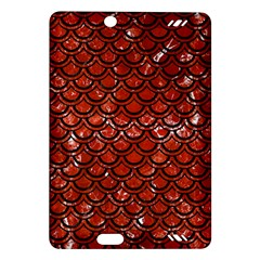 Scales2 Black Marble & Red Marble (r) Amazon Kindle Fire Hd (2013) Hardshell Case by trendistuff