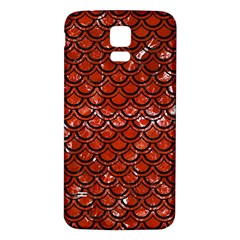 Scales2 Black Marble & Red Marble (r) Samsung Galaxy S5 Back Case (white) by trendistuff