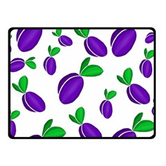 Decorative Plums Pattern Fleece Blanket (small) by Valentinaart