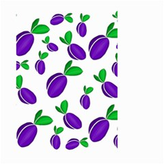 Decorative Plums Pattern Large Garden Flag (two Sides) by Valentinaart