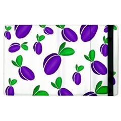 Decorative Plums Pattern Apple Ipad 3/4 Flip Case by Valentinaart