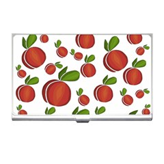 Peaches Pattern Business Card Holders by Valentinaart
