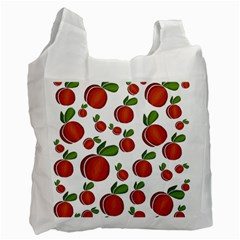 Peaches Pattern Recycle Bag (two Side)  by Valentinaart