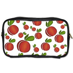 Peaches Pattern Toiletries Bags 2 Side by Valentinaart