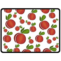 Peaches Pattern Double Sided Fleece Blanket (large)  by Valentinaart