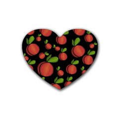 Peaches Heart Coaster (4 Pack)  by Valentinaart