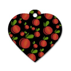 Peaches Dog Tag Heart (one Side) by Valentinaart