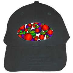 Peaches And Plums Black Cap by Valentinaart