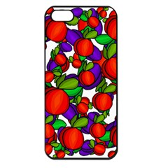 Peaches And Plums Apple Iphone 5 Seamless Case (black) by Valentinaart
