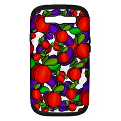 Peaches And Plums Samsung Galaxy S Iii Hardshell Case (pc+silicone) by Valentinaart