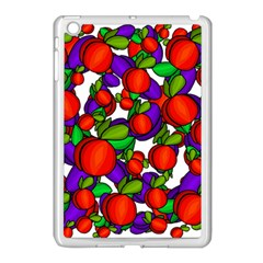 Peaches And Plums Apple Ipad Mini Case (white) by Valentinaart