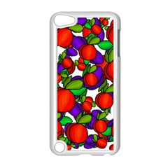 Peaches And Plums Apple Ipod Touch 5 Case (white) by Valentinaart