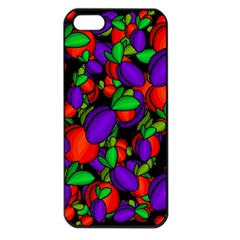Plums And Peaches Apple Iphone 5 Seamless Case (black) by Valentinaart