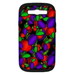Plums And Peaches Samsung Galaxy S Iii Hardshell Case (pc+silicone) by Valentinaart