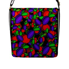Plums And Peaches Flap Messenger Bag (l)  by Valentinaart