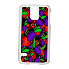 Plums And Peaches Samsung Galaxy S5 Case (white) by Valentinaart