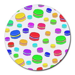 Macaroons Round Mousepads by Valentinaart