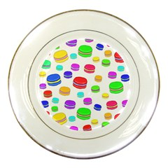 Macaroons Porcelain Plates by Valentinaart