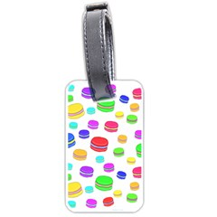 Macaroons Luggage Tags (one Side)  by Valentinaart