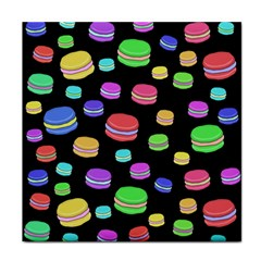Colorful Macaroons Tile Coasters by Valentinaart