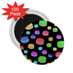 Colorful Macaroons 2 25  Magnets (100 Pack)  by Valentinaart