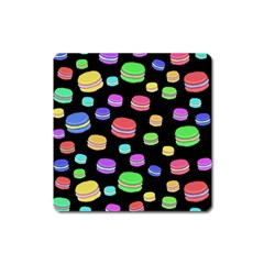Colorful Macaroons Square Magnet by Valentinaart
