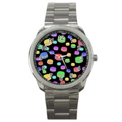 Colorful Macaroons Sport Metal Watch by Valentinaart