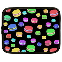 Colorful Macaroons Netbook Case (large) by Valentinaart