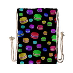 Colorful Macaroons Drawstring Bag (small) by Valentinaart