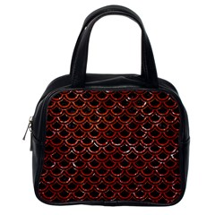 Scales2 Black Marble & Red Marble Classic Handbag (one Side) by trendistuff