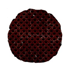 Scales2 Black Marble & Red Marble Standard 15  Premium Flano Round Cushion  by trendistuff