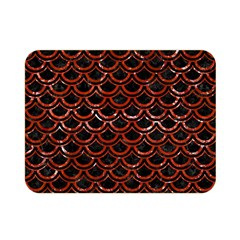 Scales2 Black Marble & Red Marble Double Sided Flano Blanket (mini) by trendistuff