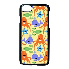 Calamari Squid Whale Apple Iphone 7 Seamless Case (black) by Jojostore