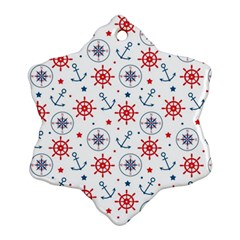 Compass Anchor Snowflake Ornament (2 Side) by Jojostore