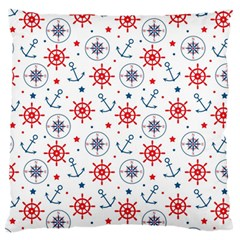Compass Anchor Standard Flano Cushion Case (one Side) by Jojostore