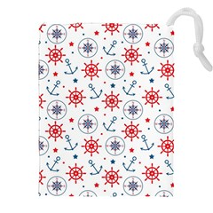 Compass Anchor Drawstring Pouches (xxl) by Jojostore