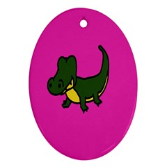 Crocodile Ornament (oval)  by Jojostore
