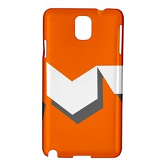 Cute Orange Chevron Samsung Galaxy Note 3 N9005 Hardshell Case by Jojostore