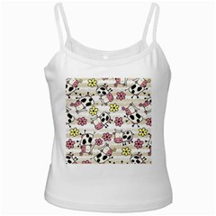 Cow Animals White Spaghetti Tank by Jojostore