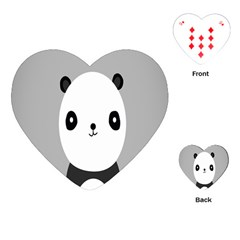 Cute Panda Animals Playing Cards (Heart)  by Jojostore