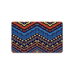 Cute Hand Drawn Ethnic Pattern Magnet (Name Card) by Jojostore