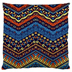 Cute Hand Drawn Ethnic Pattern Large Flano Cushion Case (one Side)