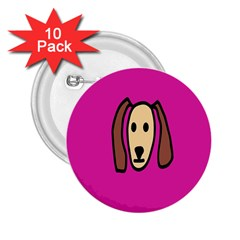 Face Dog 2 25  Buttons (10 Pack)  by Jojostore